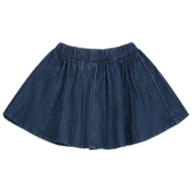 Daily Brat Sally Denim Plisse Skirt Indigo
