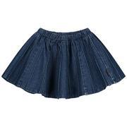 Daily Brat Sally Denim Plisse Skirt Indigo