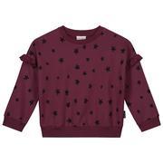 Daily Brat Megan Star Sweater Red