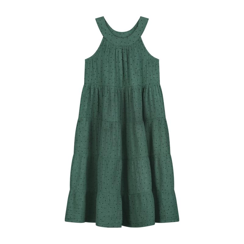 Daily Brat Dolly Polka Dress Juniper Green