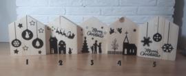 1 houten huisje Kerst