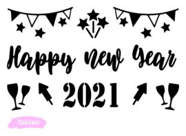Lightbox decoratie -Happy new Year