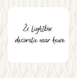 Set van 2 verschillende lightbox decoraties