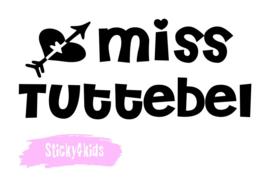Strijkapplicatie Miss tuttebel
