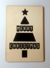 Houten kaart Kerstboom