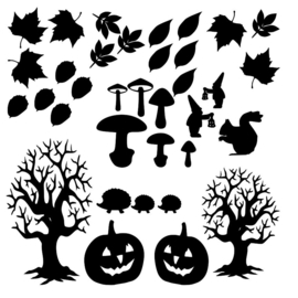 Raamsticker herfst