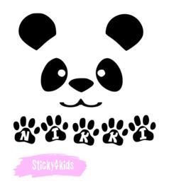 T shirt panda met naam