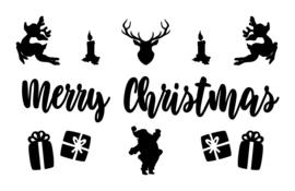 Lightbox decoratie - Kerstman