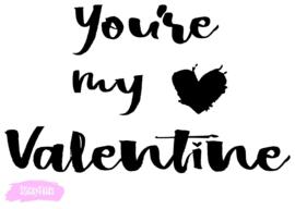 Lightbox decoratie - You're my valentine