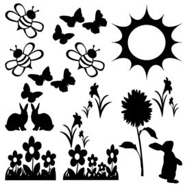 Raamsticker lente en zomer