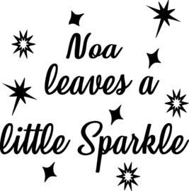 Strijkapplicatie Noa leaves a little sparkle