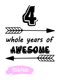 Strijkapplicatie - 4 whole years of awesome
