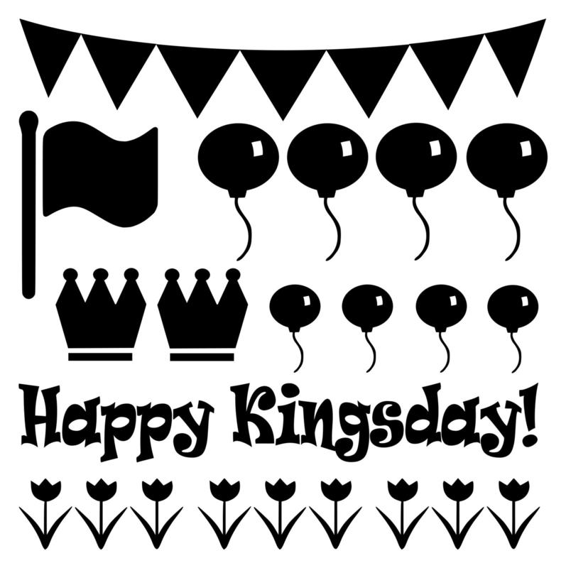 Raamsticker happy kingsday