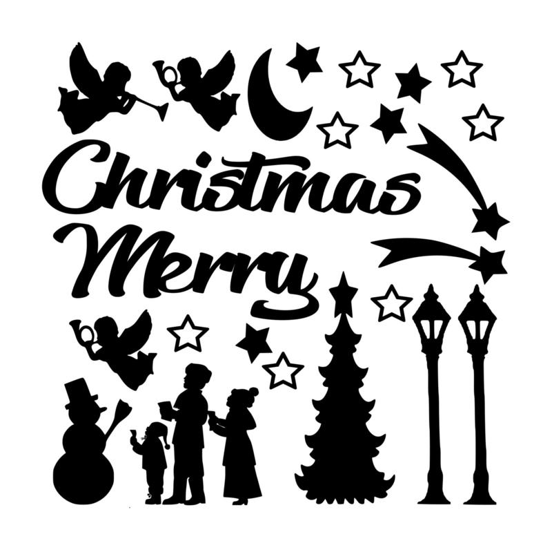 Raamsticker kerst (extra decoratie)
