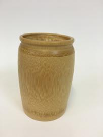 Urn van hout met gravure 12cm