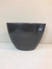 Zwarte urn met opdruk, 23cm