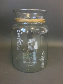 Glazen vaas met opdruk, 25cm (prijs excl. gravure)