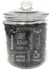 Tekst voor en cadeau PENSIOEN - VUT (excl. product)