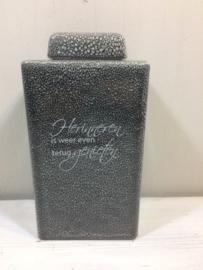 Gemeleerde urn met opdruk, 14x28x11cm