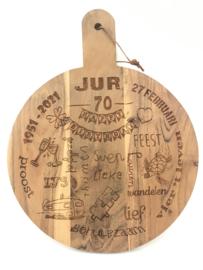 Hapjesplank met tekst 30x40cm (prijs excl. gravure)