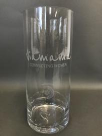 Glazen vazen met gegraveerde opdruk, 30cm (prijs excl. gravure)