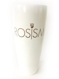 Witte vaas met opdruk, 40cm (prijs excl. opdruk)