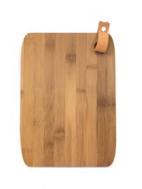 Hapjesplank, bamboo hout, 20x28cm.  (prijs excl. gravure)