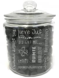 Tekst voor een cadeau voor een  LIEVE JUF (excl. product)