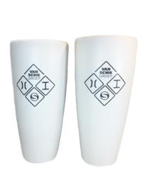 Witte vaas met opdruk, 50cm (prijs excl. opdruk)