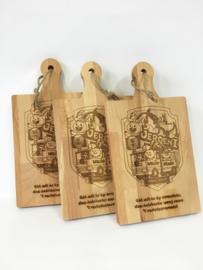 Kleine hapjesplanken met gravure prins(es)/ boerebruiloft carnaval
