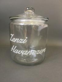 Glazen voorraadpot met opdruk, 25cm (prijs excl. gravure)