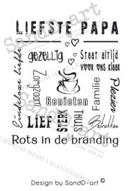 Tekst voor en cadeau LIEFSTE PAPA (excl. product)