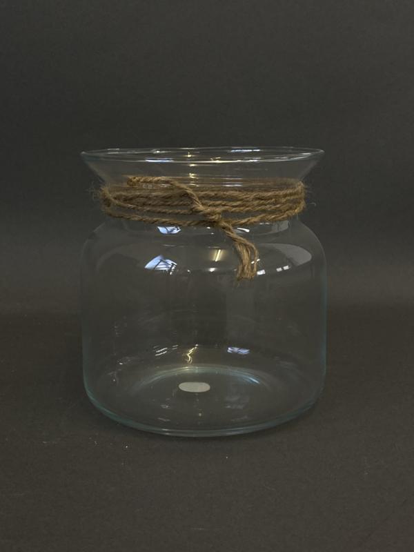 Glazen windlicht met opdruk, 15cm (prijs excl. gravure)