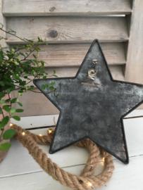 Staande zinken ster maat S
