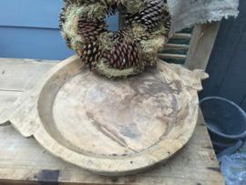 Houten platte schaal