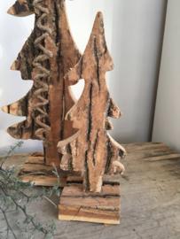 Houten kerstboom klein