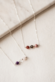 Familie ketting - zilver