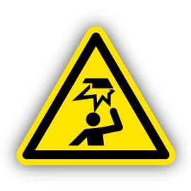 Stickers Laaghangende obstakels - stootgevaar (W020)