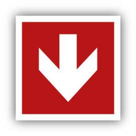 Stickers Pijl recht 90 graden