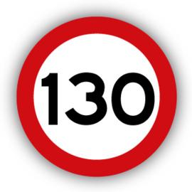 Stickers Maximaal 130 km per uur