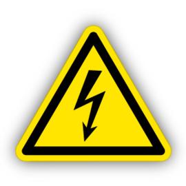 Stickers Gevaarlijke electrische spanning (W012)