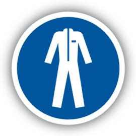 Stickers Beschermende kleding verplicht (M010)