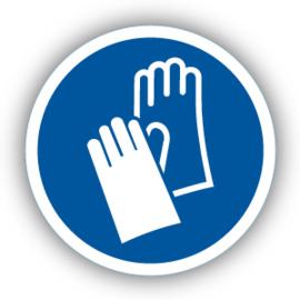 Stickers Veiligheidshandschoenen verplicht (M009)