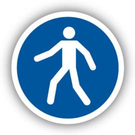 Stickers Verplichte doorgang voetgangers (M024)