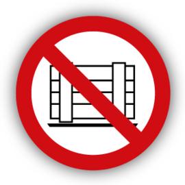 Stickers Neerzetten of opslaan verboden (P023)