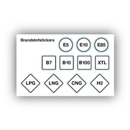 Brandstofstickers