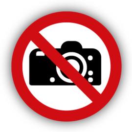 Stickers Fotograferen verboden (P029)