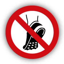 Stickers Geen schoenen met metalen noppen dragen (P035)