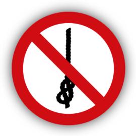 Stickers Verboden om knopen te maken (P030)