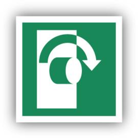 Stickers Draai met de wijzers van de klok mee om te openen (E019)
